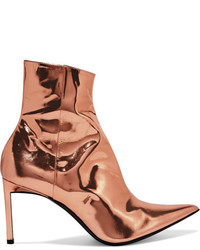 Haider Ackermann Metallic Leather Ankle Boots Copper