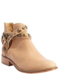 Patron By Perugia Tan Leather Lou Ankle Boots