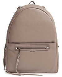 Rebecca Minkoff Always On Regan Leather Backpack Grey