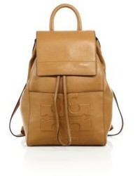 Tory Burch Bombe T Flap Leather Backpack