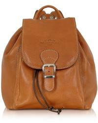 Robe Di Firenze Camel Italian Leather Backpack