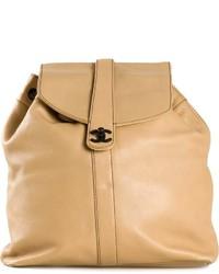 Chanel Vintage Logo Backpack