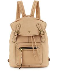 Oryany Jaylin Leather Backpack Almond