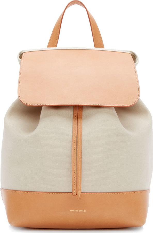 37ac2db6e7 ... Backpacks Mansur Gavriel Tan Canvas Leather Backpack ...