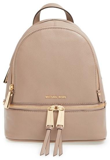 9a955f60270b ... Backpacks MICHAEL Michael Kors Michl Michl Kors Extra Small Rhea Zip  Leather Backpack ...