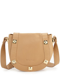 See by Chloe Sadie Small Studded Leather Saddle Bag Cappuccino