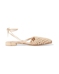 Loq Costa Lace Up Woven Leather Flats