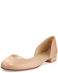 Stuart Weitzman Cutie Leather Dorsay Ballerina Flat