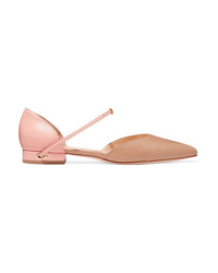 Jennifer Chamandi Eric Two Tone Leather Point Toe Flats