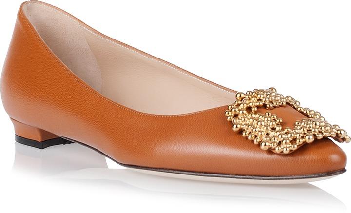 df06b4a06066 ... usa ballerina shoes manolo blahnik hangisi flat tan leather 77f3e 500ab