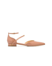 Jennifer Chamandi Nude Enrico 20 Patent Leather Flat Pumps