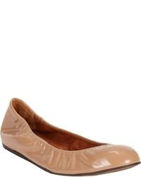 Lanvin Patent Ballet Flats Nude