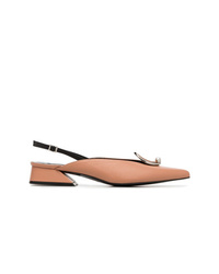 Yuul Yie Pink Medallion 30 Slingback Leather Pumps
