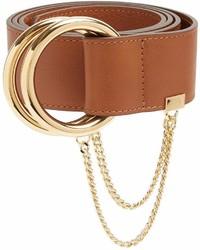 Chloé Chlo Gold Hoop Leather Belt
