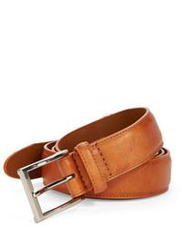 Black Brown 1826 Coated Leather Belt