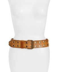Frye Double Grommet Leather Belt
