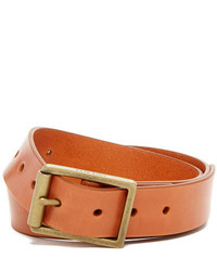 Cole Haan Flat Strap Smooth Leather Belt