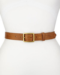 Rag and Bone Rag Bone Textured Leather Boyfriend Belt Tan