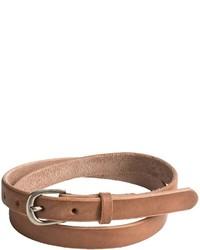 Bill Adler Skinny Jelly Bean Leather Belt