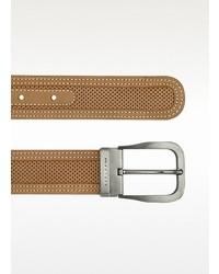 Tan perforated leather belt medium 7182