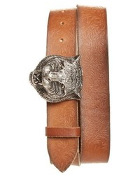 28d58ee2324 Gucci Supreme Canvas Belt Out of stock · Gucci Tiger Head Buckle Calfskin  Belt