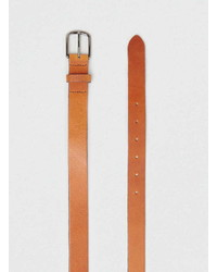 Topman Tan Super Skinny Leather Belt