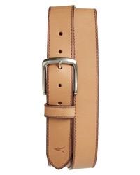 AllSaints Topstitch Leather Belt