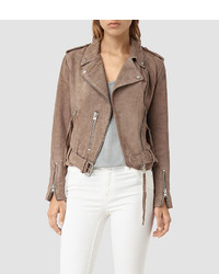 AllSaints Plait Balfern Leather Biker Jacket