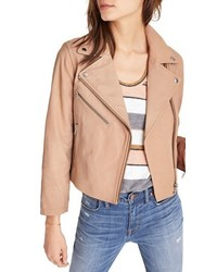 Crop leather moto jacket medium 5262591