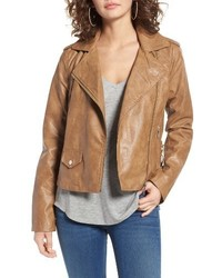 Kirwin faux leather moto jacket medium 3742539