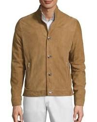 Michael Kors Michl Kors Leather Back Moto Jacket