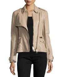 Remmington leather biker jacket honey medium 651276