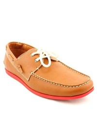 MADDEN MEN Gamer Tan Boat Moc Leather Boat Shoes