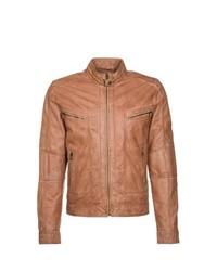 Goosecraft Leather Jacket Brown
