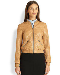Heritage quilted lambskin jacket medium 26665
