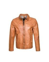 Milestone Americo Leather Jacket Brown