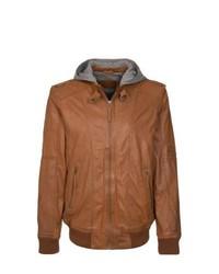 Mustang Gilbert Leather Jacket Brown