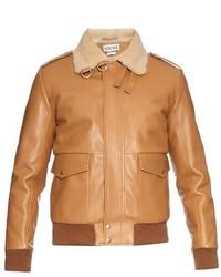 Loewe Sheepskin Collar Leather Aviator Jacket