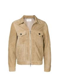 Officine Generale Slim Fit Leather Jacket