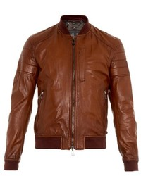 Belstaff Stockdale Leather Bomber Jacket