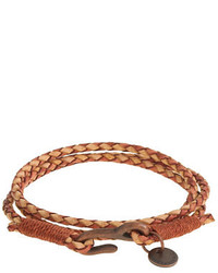 J.Crew Caputo Cotm Antiqued Leather Triple Wrap Bracelet