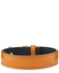 Tom Ford Leather T Buckle Wrap Bracelet