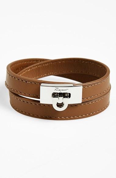 Salvatore Ferragamo Leather Wrap