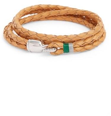 Miansai Trice Braided Leather Wrap Bracelet