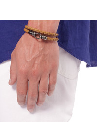Tod S Woven Leather Wrap Bracelet