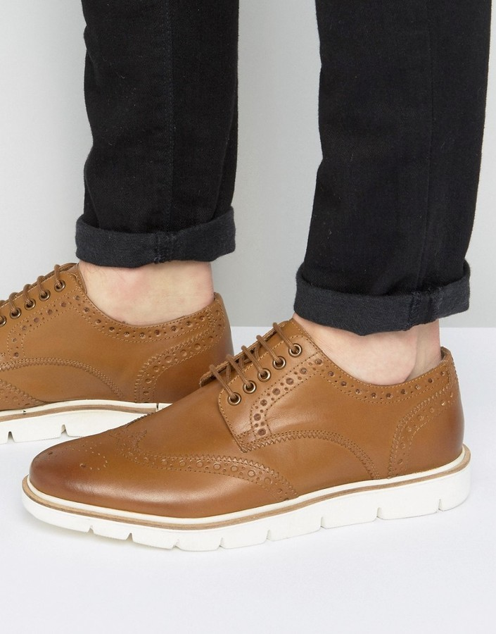 Brogues In Tan Leather - Tan Frank Wright JP2d2lSt24