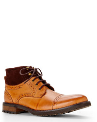 Tan Cap Toe Boots