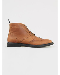 Topman Tan Brogue Boots