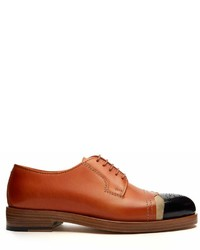 Maison Margiela Capped Toe Leather Brogues