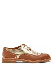 Clergerie Roelo Leather Lace Up Derby Shoes